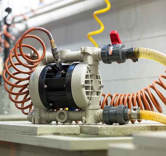 pompe industriali in resina
